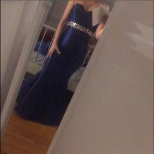 Blue mermaid dress